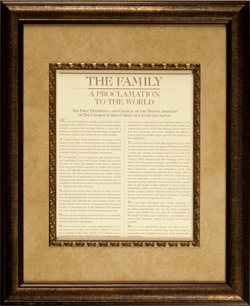 10 LDS Wedding Gifts That Won't Get Returned: The Family: A Proclamation to the World