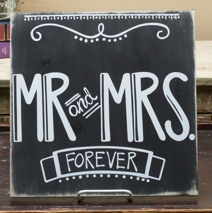 10 LDS Wedding Gifts That Won't Get Returned: Mr. and Mrs. Forever Plaque
