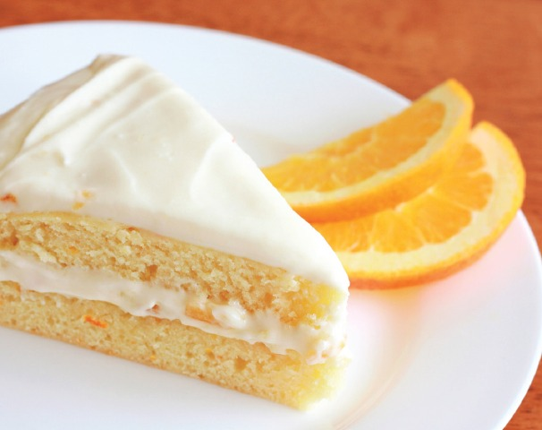 Orange Buttermilk Cake with Orange Cream Cheese Frosting by Daring Gourmet