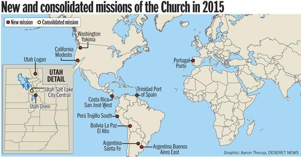 Lds Missions In California Map.Church Announces 11 New Missions Lds Living