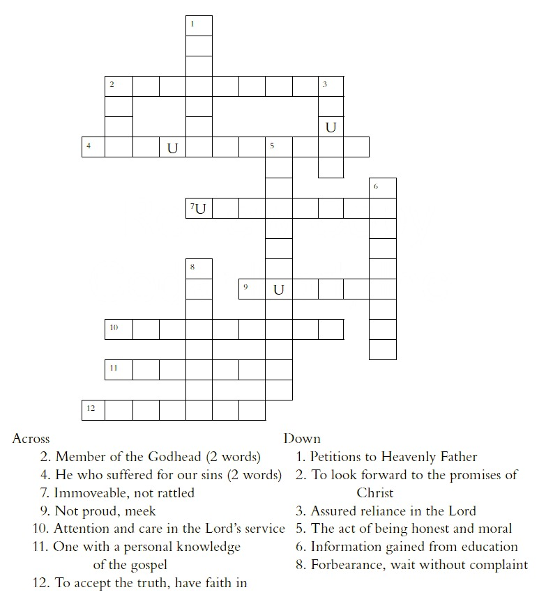 Book of Mormon Scripture Puzzles