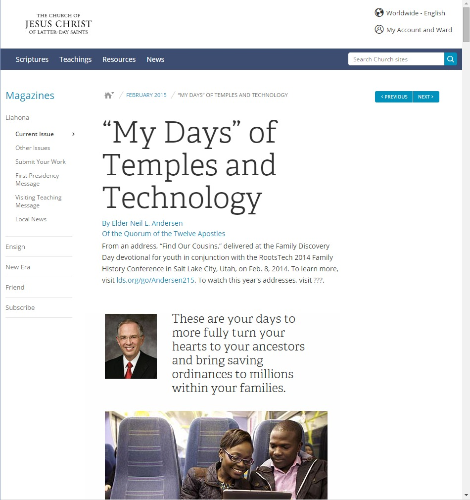 Church Launches New LDS.org | LDS Living