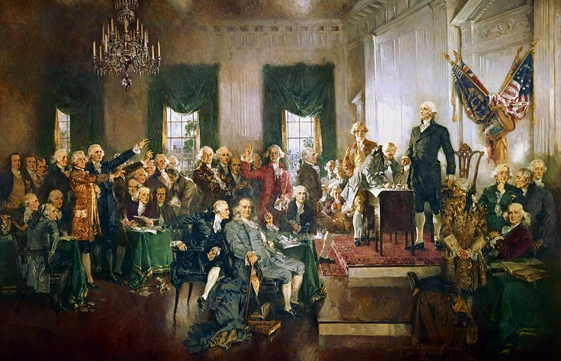 Image result for photos of the constitution and paintings with forefathers