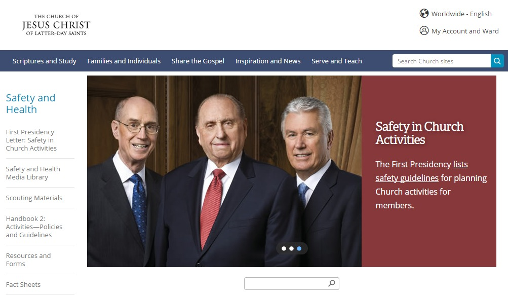 LDS org Launches New Health & Safety Page | LDS Living