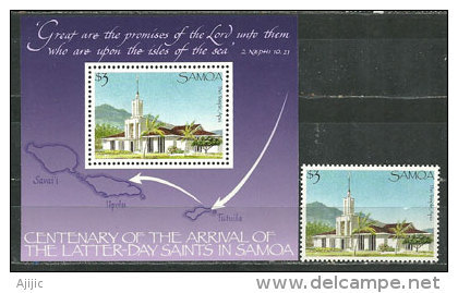 11 Postage Stamps with Mormon Images