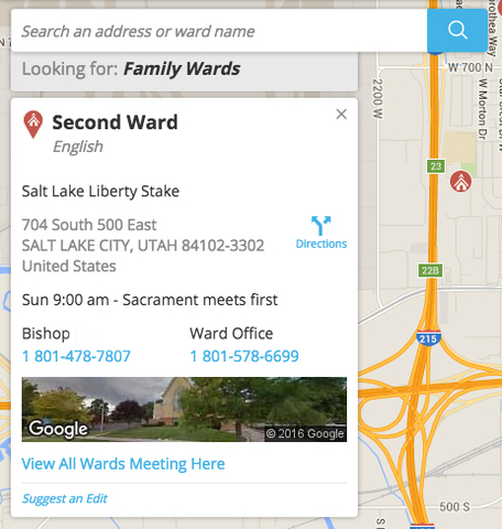 How To Find My LDS Ward Step 6