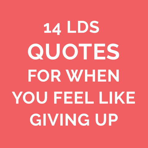 Lds Quotes On Faith Impressive 8 Lds Quotes On Faith For When You Are Discouraged  Lds Living