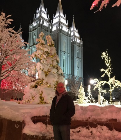 Dusty on Temple Square