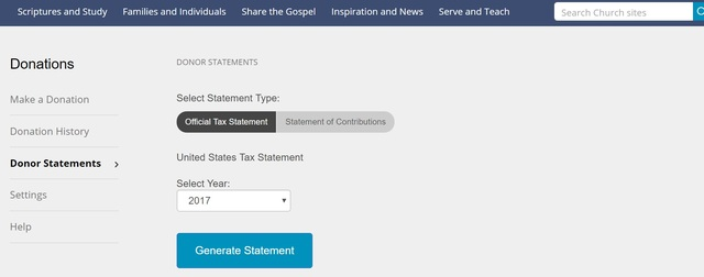LDS Church Makes It Possible For Members To View And Print Tax Statements Online Heres How