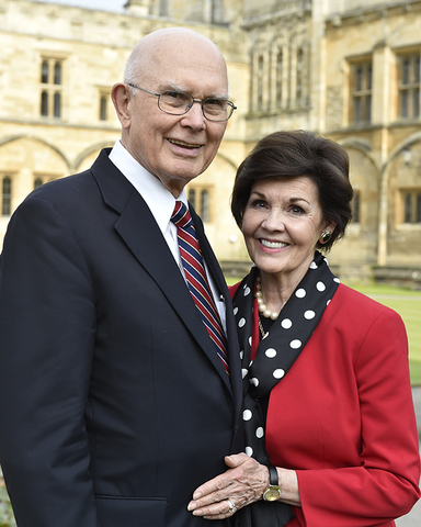 Elder Oaks and his wife, Kristen