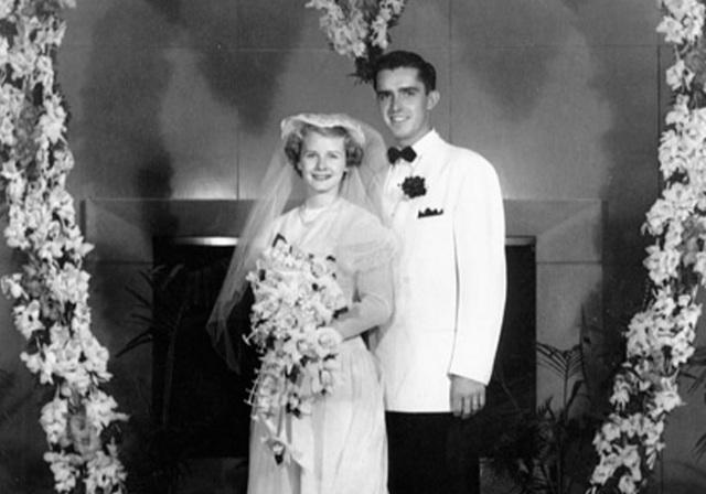 The Ballards on their wedding day