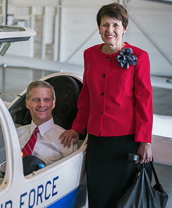 Elder and Sister Bednar at US Airforce Academy