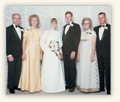 Elder and Sister Christofferson on their wedding day