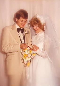 Gary and Lesa Stevenson on their wedding day