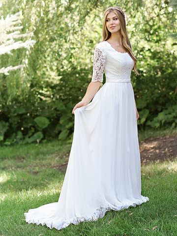 cec2ea62b84 30 Gorgeous Modest Wedding Dresses