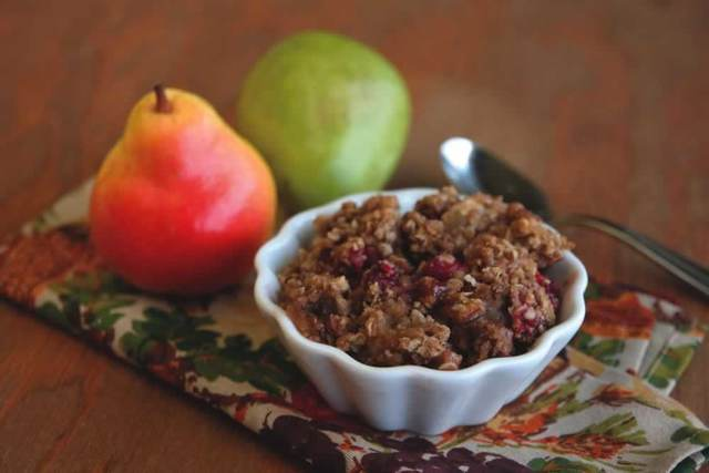 Apple-Pear-Cranberry Crisp