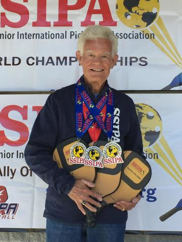 Johnson after he won three medals at the SSIPA World Championship