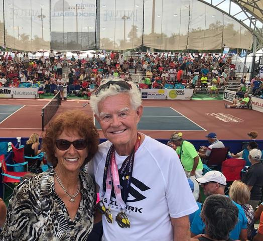 Dick Johnson and his wife, Lawana, at the US Pickleball Open