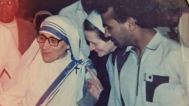 Brother Gill with Mother Teresa.