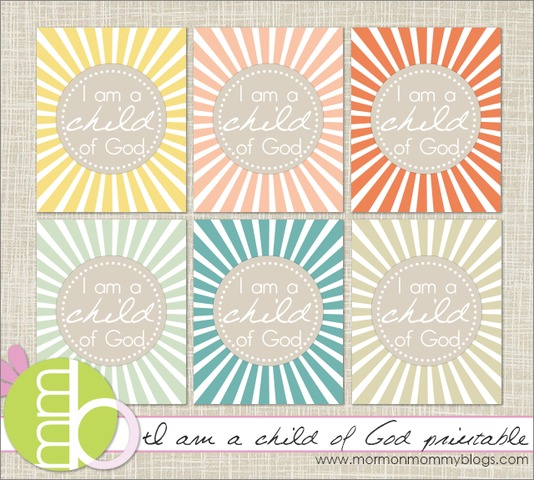 photograph about I Am a Child of God Printable titled I Am a Baby of God printable LDS Dwelling