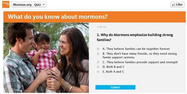 Today in the Bloggernacle: Take and share the Mormon.org quiz | LDS ...