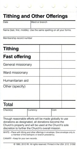 lds church adopts new tithing slips lds living
