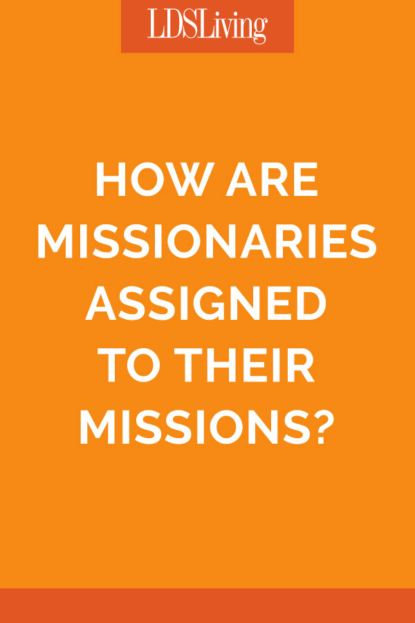 Elder Christofferson Answers How Missionaries Are Assigned to Their Missions