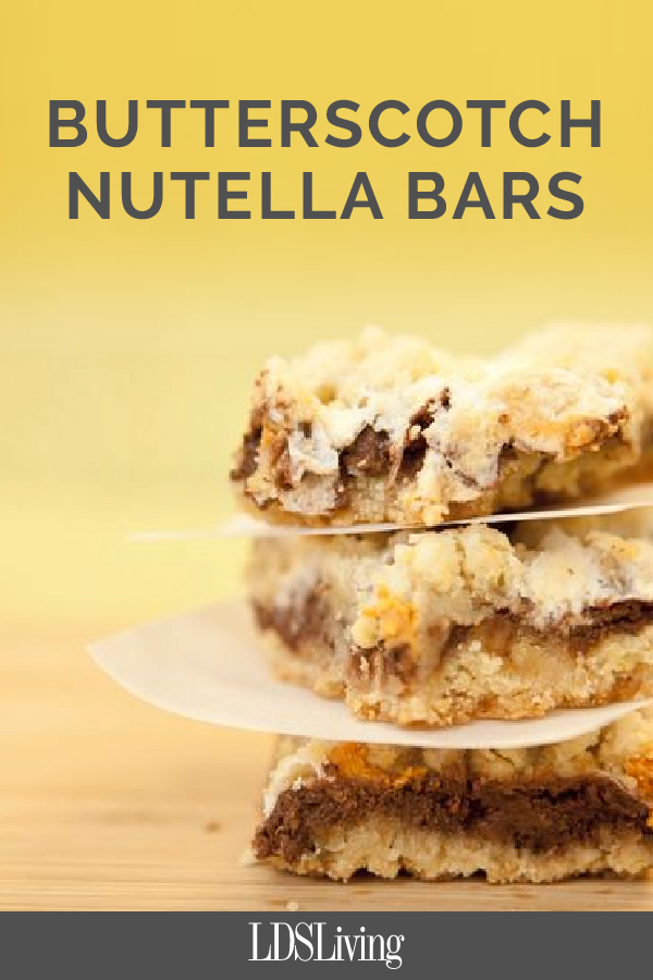Award-Winning Butterscotch Nutella Bars