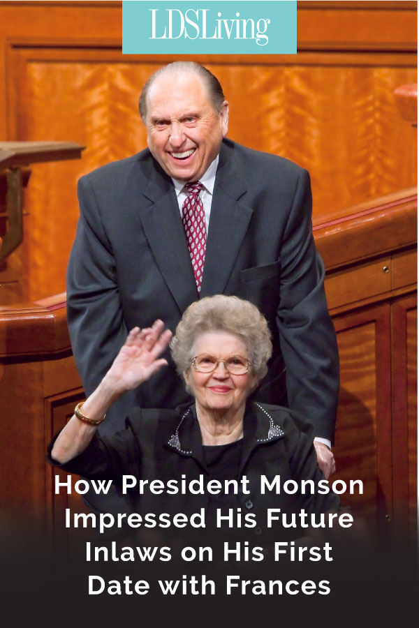 On the day of Thomas S. Monson's first date with Frances, he never expected to already have a close connection with her family that would give him an advantage to winning her heart.