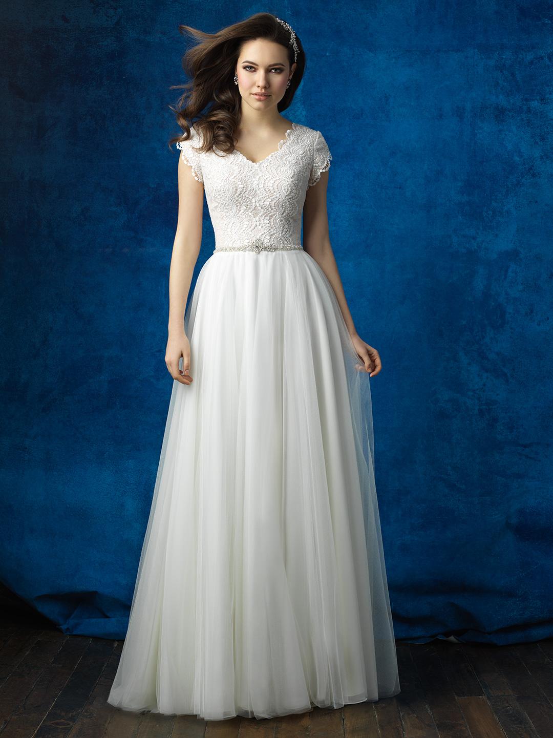 conservative wedding dress 20 Gorgeous Modest Wedding Dresses