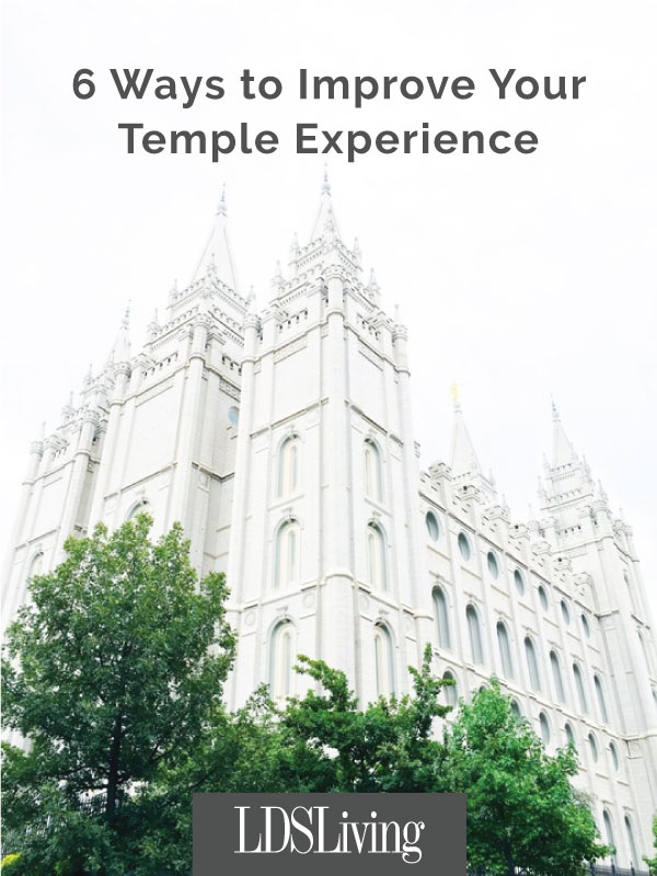 Going to the temple is one of the greatest ways to escape the world, but sometimes, if we're not careful, we can bring the world inside with us.