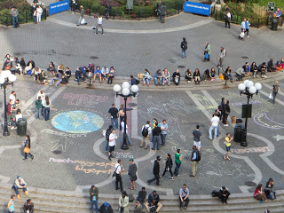 Mormon Chalk Art in New York