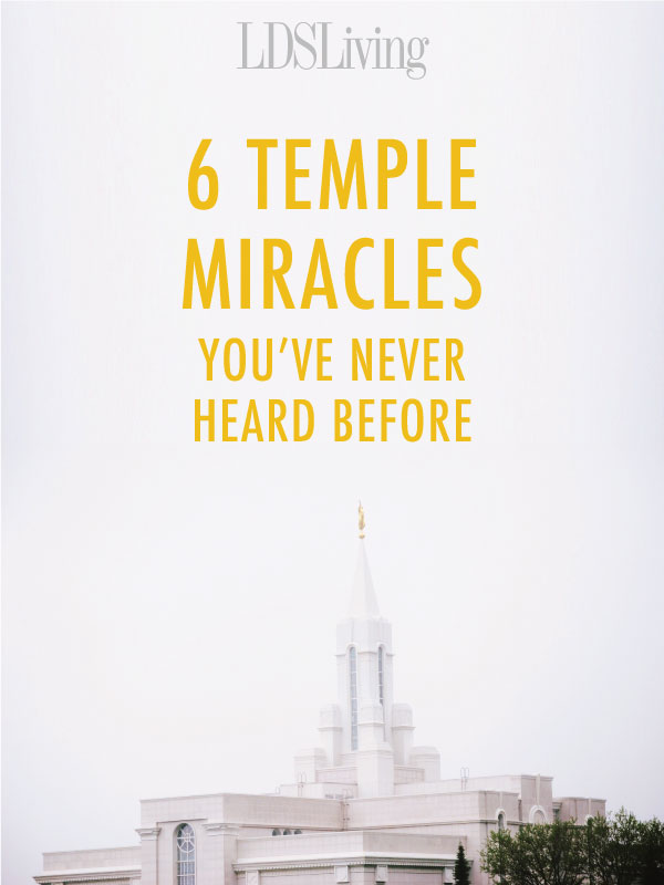 Each temple has stories about its unique construction plans and opposition faced along the way. Accompanying these stories are miracles that manifest the Lord's own way of making sure everything pieces together for His holy temples.