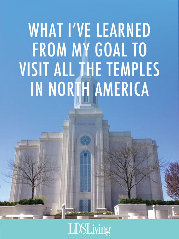 Learn how one man's goal has taken him all across the United States and Canada to some of North America's most beautiful cities and over 35 temples.