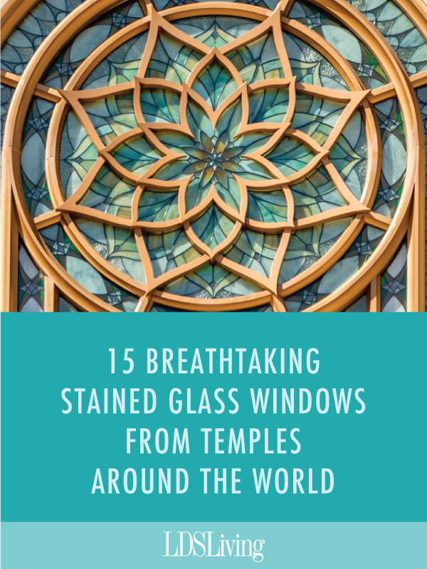 Every temple has its own unique, beautiful details in its architecture. Check out some of these stunning, unique stained glass windows from temples around the world.