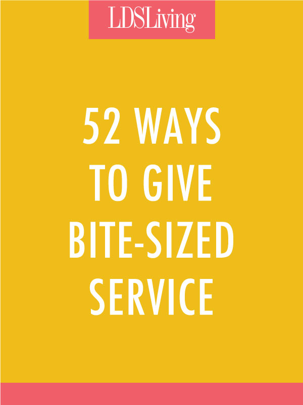 Service doesn't have to take hours of planning and a large group to carry it out. Sometimes it's making one small adjustment to the things we already do each day.