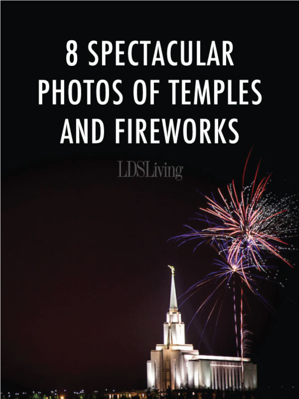 There's something stunning about an explosion of color in the air. But there's something even more stunning when those pyrotechnic displays are captured next to a temple.