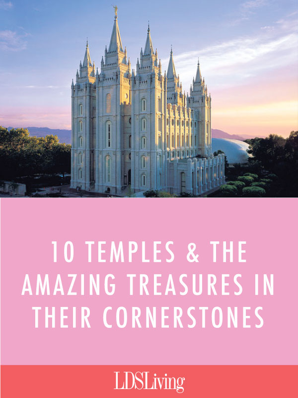 During the construction of every temple, another project takes place on a smaller scale. Instead of creating a beautiful building or painting a stunning mural, someone has the special assignment to fill a small time capsule for the cornerstone of the temple.