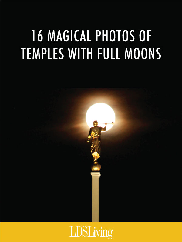 16 Magical Photos of Temples with Full Moons
