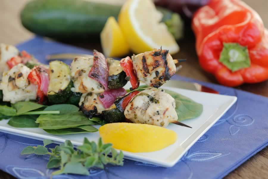 Herbed Lemon-Garlic Chicken Skewers