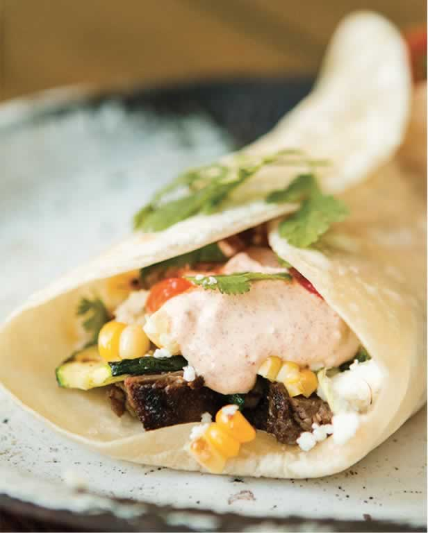 Steak Burritos with Grilled Zucchini