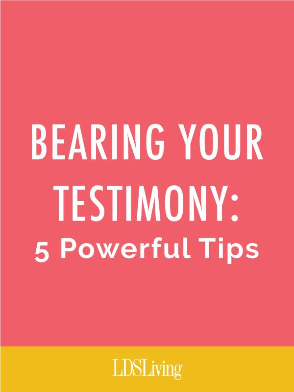 testimonial speech outline