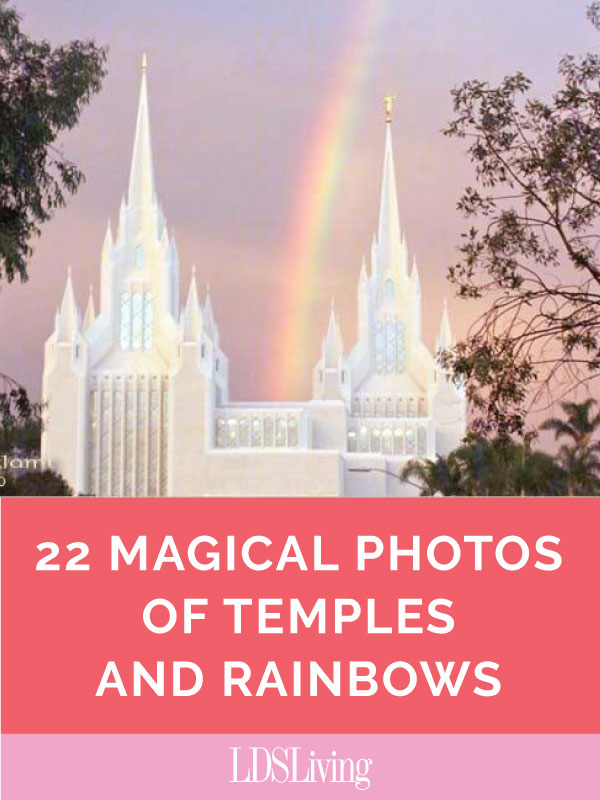 Some people believe there's a pot of gold at the end of the rainbow, but in these beautiful pictures, the treasure is the temple.