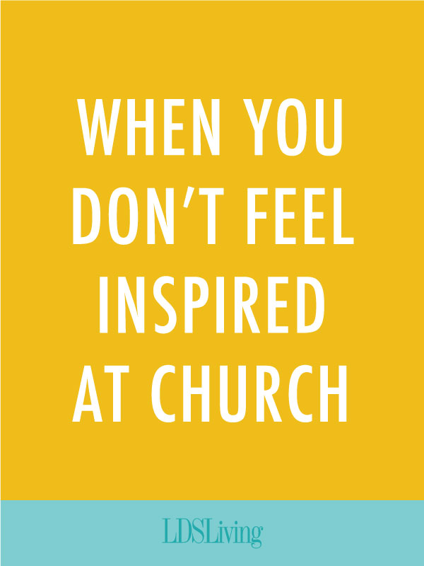 Sometimes we find ourselves going to church every week only to leave feeling no different from when we arrived. What do you do when you just don't feel like you're getting anything out of church?
