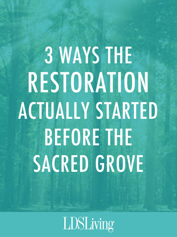 As Latter-day Saints, we tend to assume that the heavens were sealed until the Sacred Grove appearance in 1820 and that the Restoration didn't really begin until Moroni tutored Joseph and subsequently gave him the plates in 1827. But that isn't entirely true.