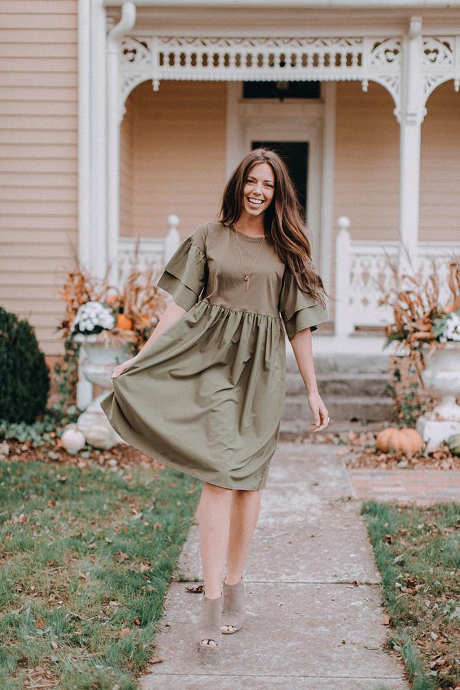 Cute Modest Dress for Fall